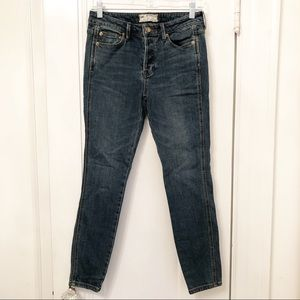Free People button fly skinny jeans size 25